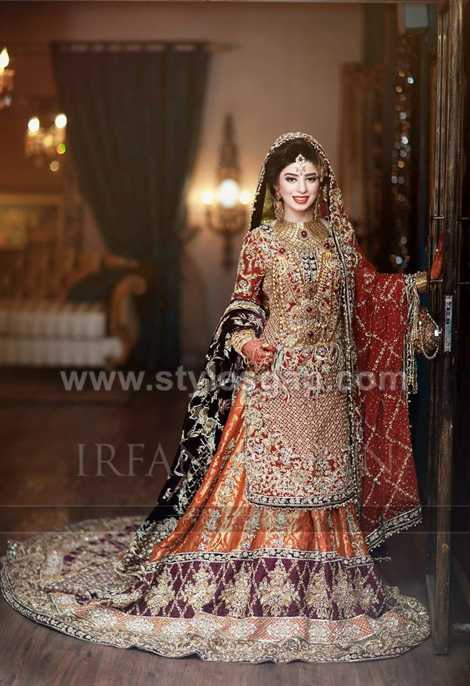 3db55c8ef Pakistani Bridal Lehenga Dresses Designs Styles 2018-2019 Collection ...