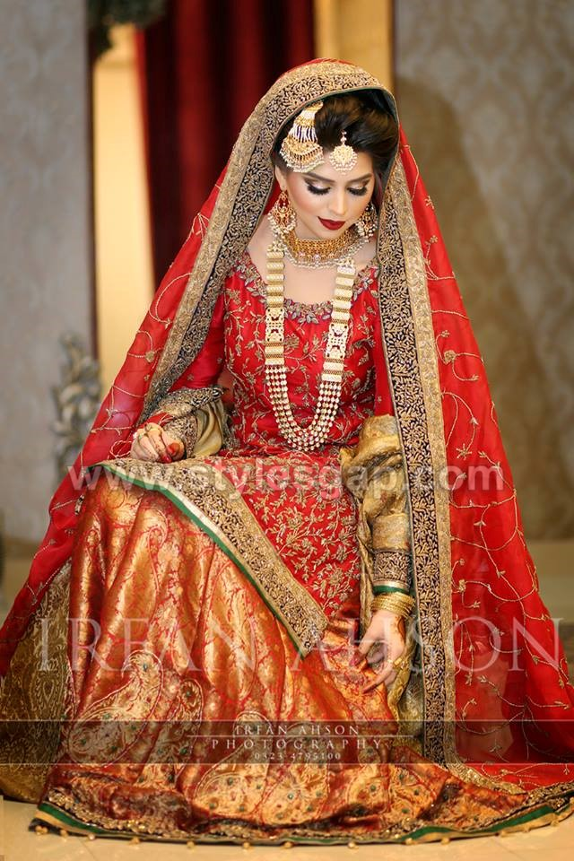 Pakistani Bridal Lehenga Dresses Designs Styles (13)