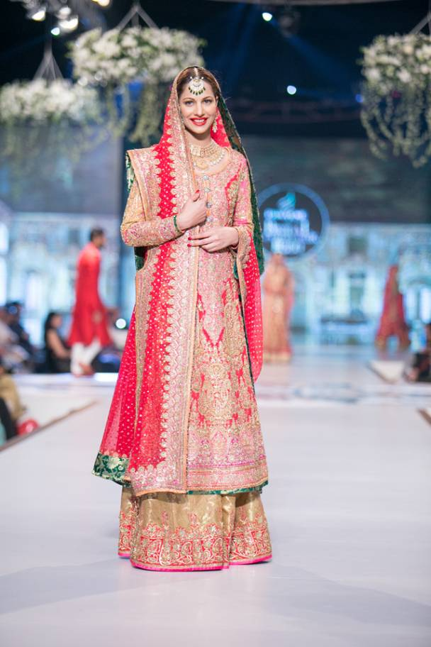 Pakistani Bridal Lehenga Dresses Designs & Styles 2016-2017 Collection (12)
