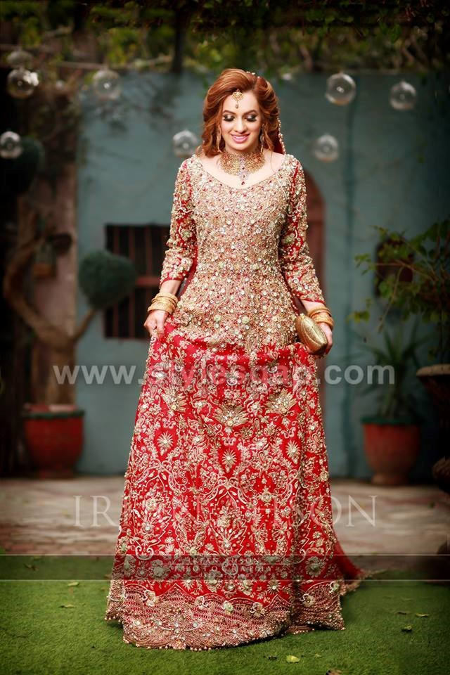 017c509f66d4 Pakistani Bridal Lehenga Dresses Designs Styles 2018-2019 Collection ...
