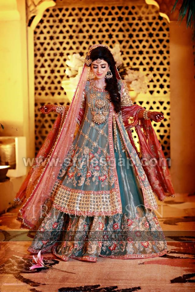 Pakistani Bridal Lehenga Dresses Designs Styles 2018 2019 Collection
