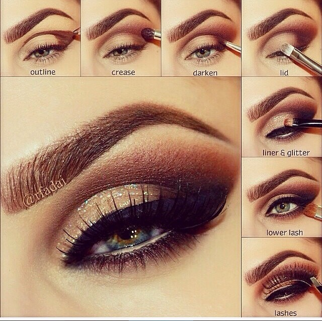 Party Wear Eye Makeup tutorial & Tips (1)