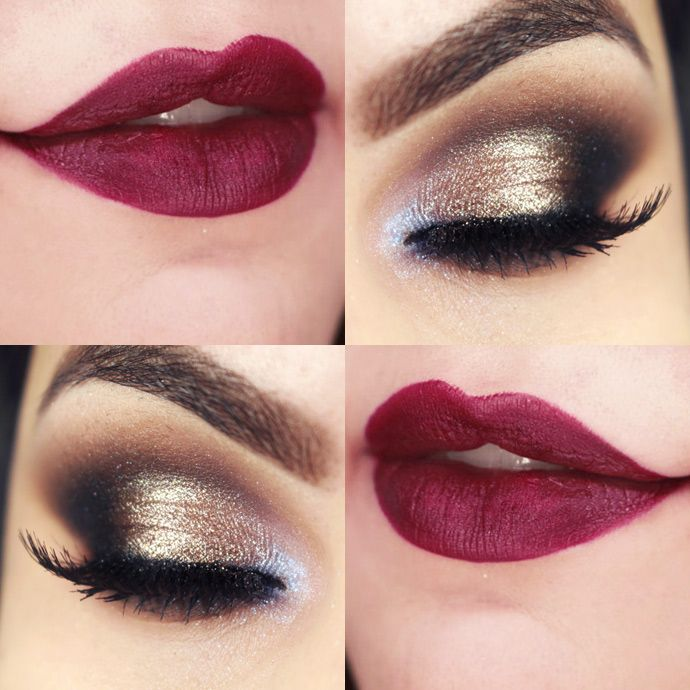 Party wear lips & eyes makeup