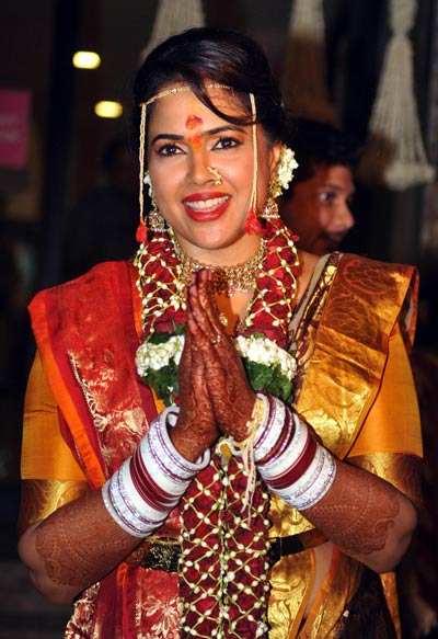 Sameera Reddy Wedding Dress