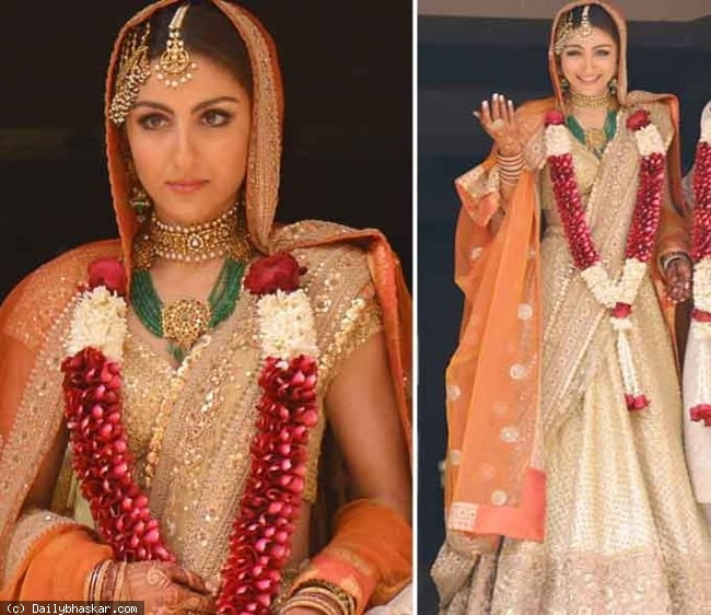 Soha Ali Khan- Top 10 Famous Indian Celebrity Wedding Dresses Trends (4)