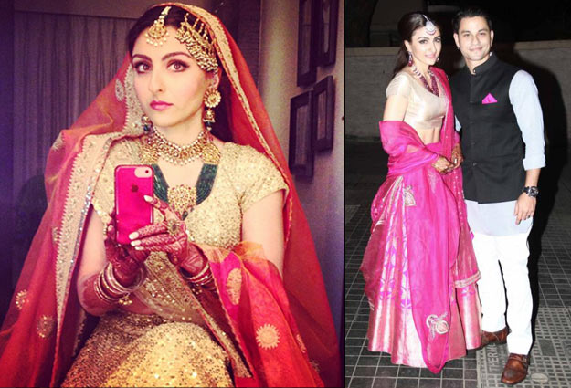 Soha Ali Khan- Top 10 Famous Indian Celebrity Wedding Dresses Trends (5)