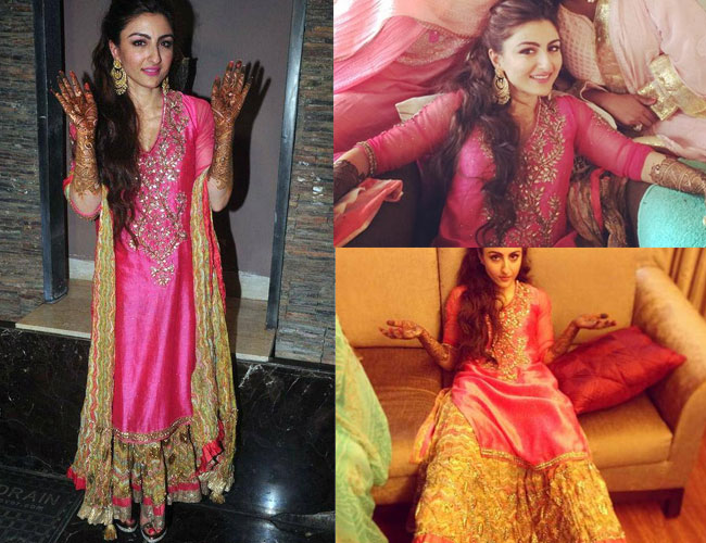 Soha Ali Khan- Top 10 Famous Indian Celebrity Wedding Dresses Trends (6)