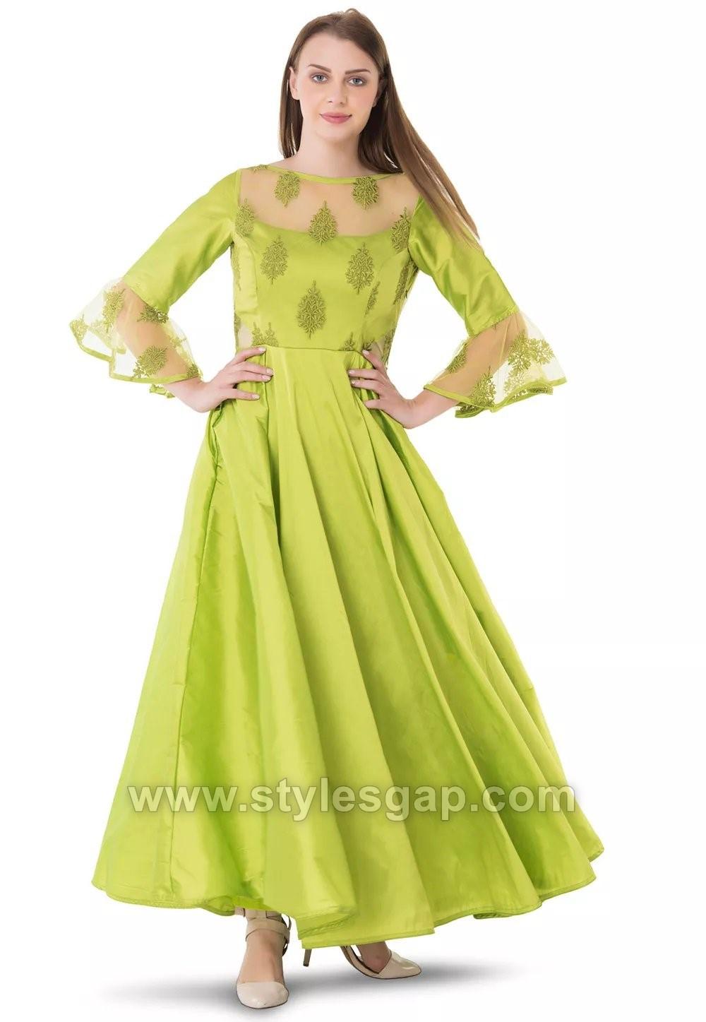 c402d38f4d6 Umbrella Cut Dress Designs   Frocks Styles (2) - StylesGap.com