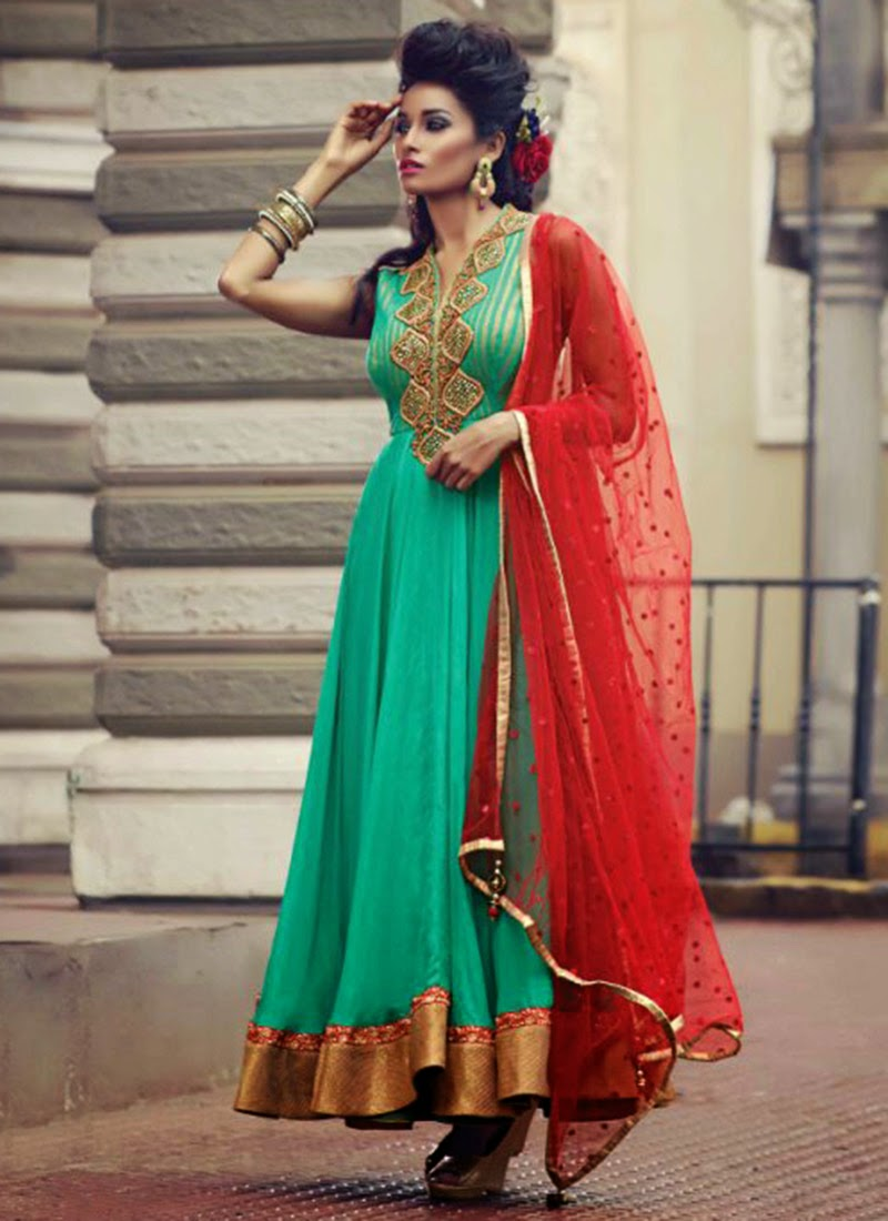 Umbrella frocks designs styles latest collection 2016 2017 for Net designs