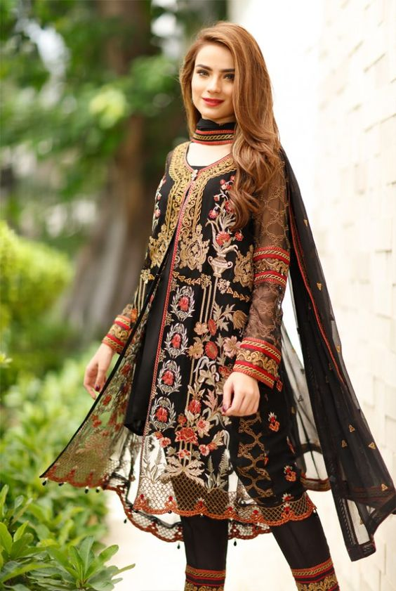 33c248b36517 Front Open Double Shirt Dresses Frocks Designs 2018-2019 Collection ...
