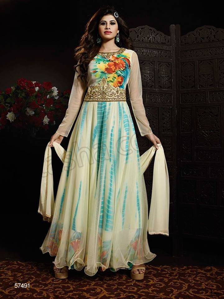 Latest Anarkali Suits & Dresses Designs 2016-2017 Collection (14)
