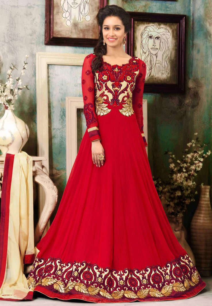 Latest Anarkali Suits & Dresses Designs 2017-2018 Indian Collection