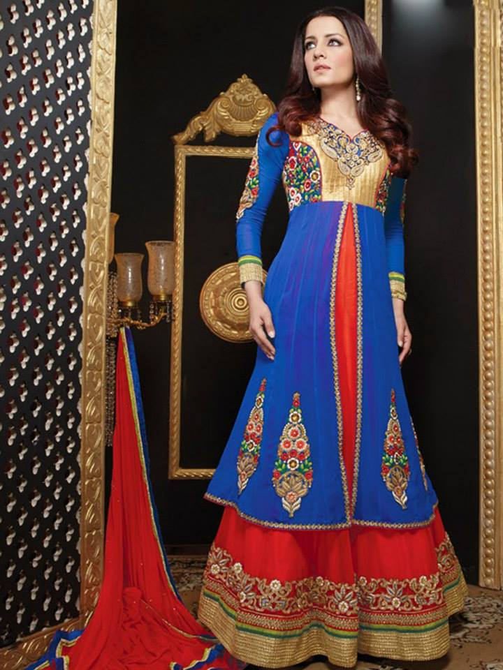 Latest Anarkali Suits & Dresses Designs 2016-2017 Collection (18)
