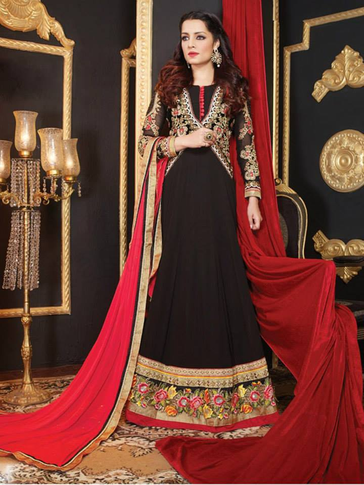 Latest Anarkali Suits & Dresses Designs 2016-2017 Collection (19)