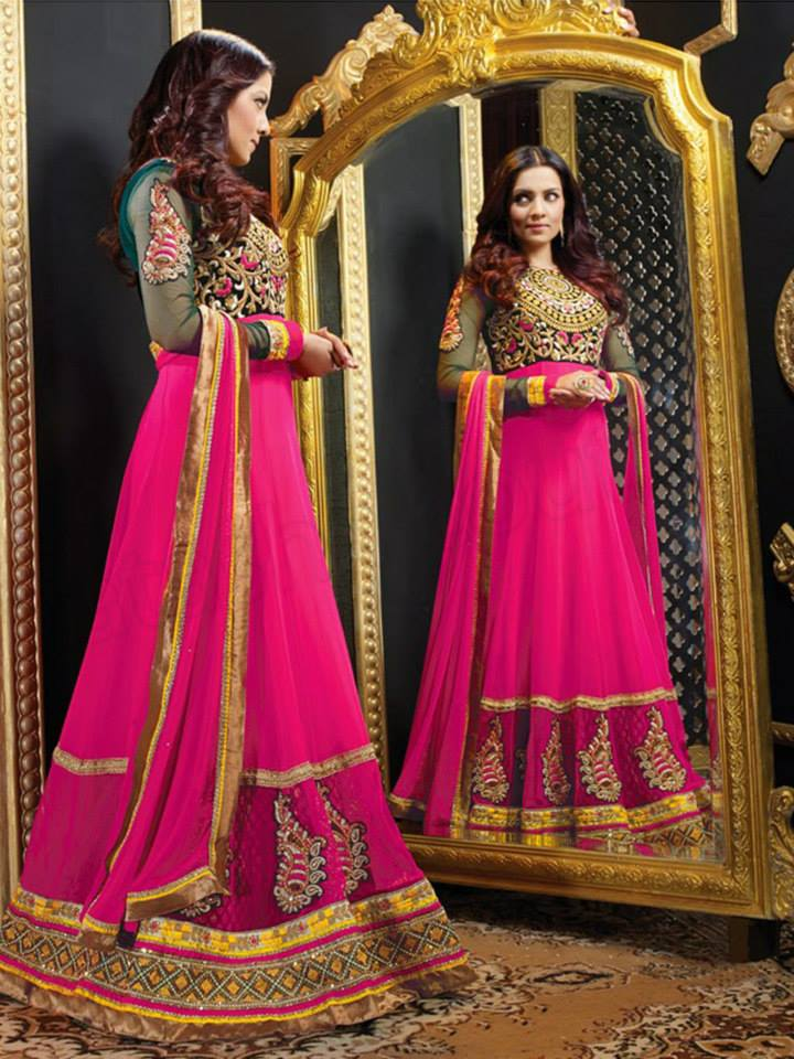 Latest Anarkali Suits & Dresses Designs 2016-2017 Collection (20)