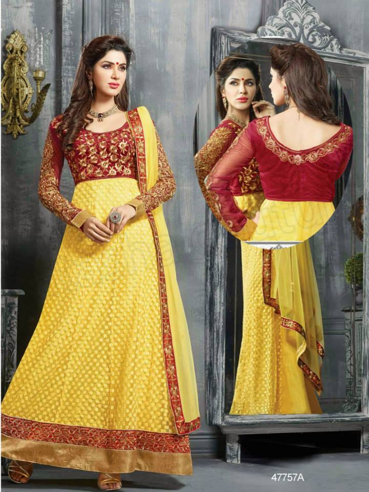 Latest Anarkali Suits & Dresses Designs 2016-2017 Collection (41)