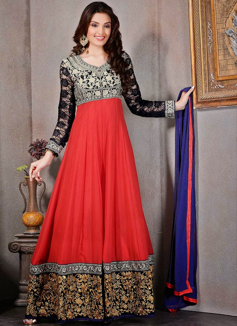 Latest Anarkali Suits & Dresses Designs 2016-2017 Collection (7)