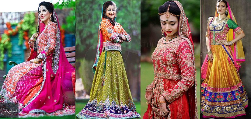Latest Ghagra Choli Designs Pakistani & Indian Collection 2016-2017