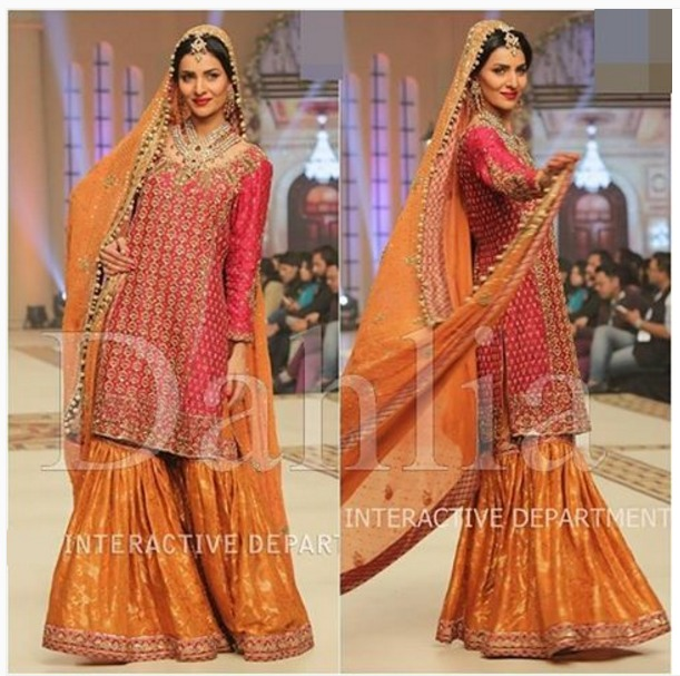 Latest Bridal Mehndi Dresses Designs 2018-2019 Collection