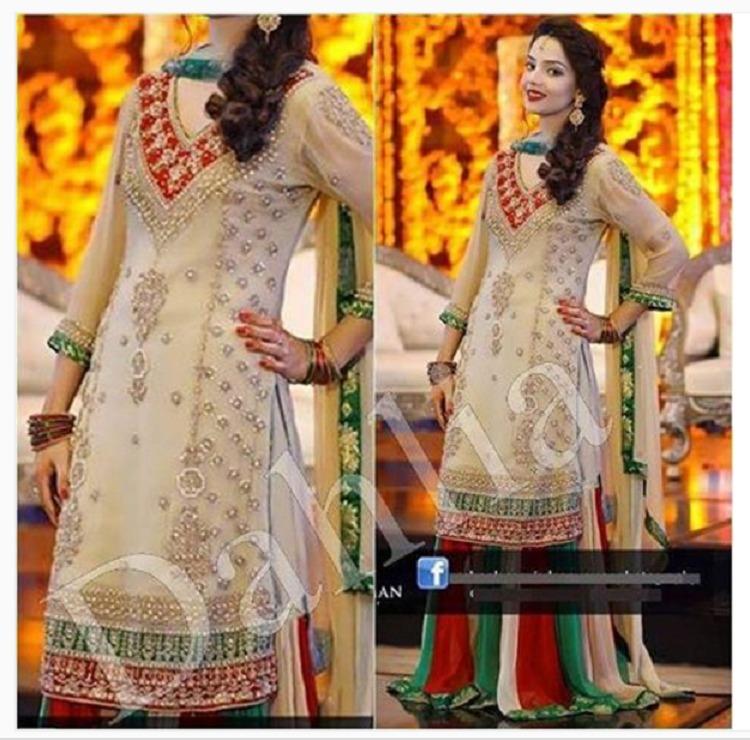 Mehndi Lehenga Combinations : Mehndi dresses pakistani designs  archives