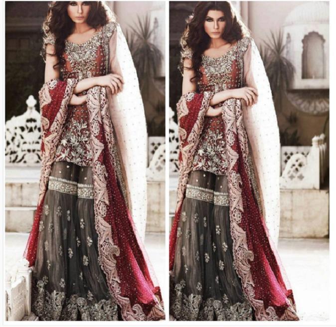 Mehndi Dress Designs 2016 New Style : Latest bridal mehndi dresses designs  collection