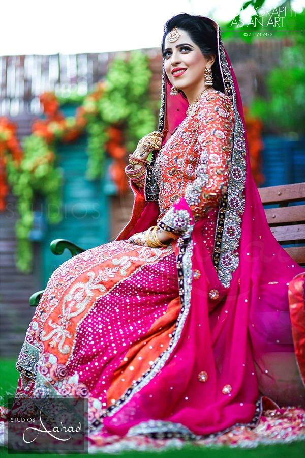 Latest Pakistani Ghagra Choli Dresses Collection 2016-2017 (5)