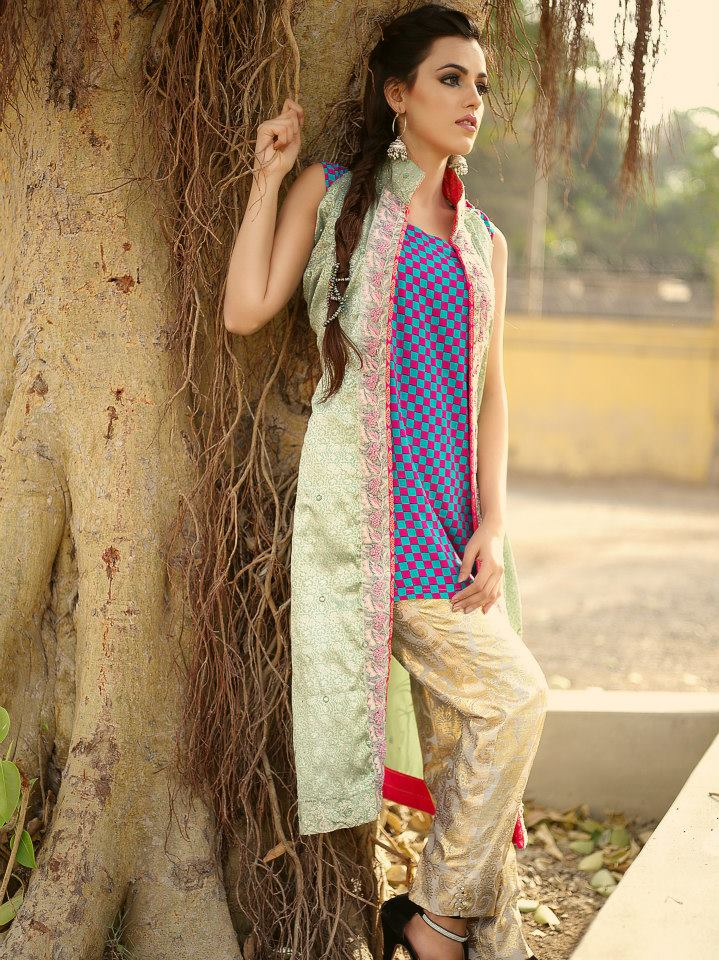 Front Open Double Shirt Dresses Frocks Designs 2017-2018 Collection