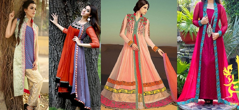 Front Open Double Shirt Dresses Frocks Designs 2017 2018