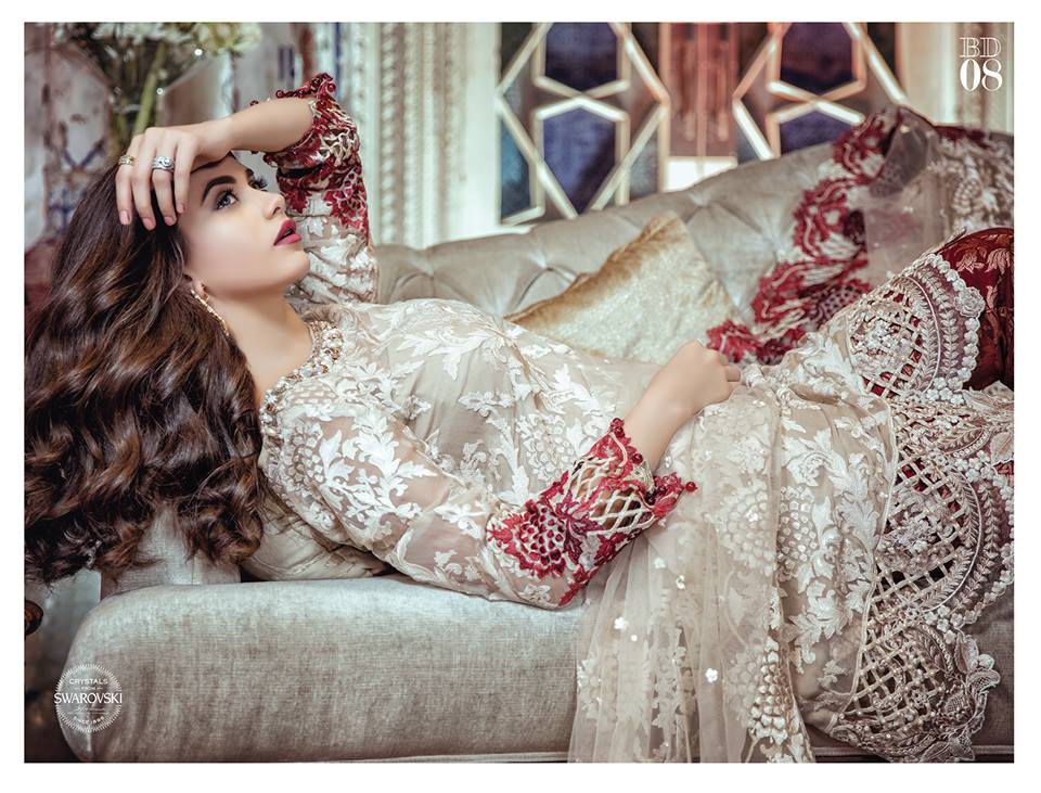MARIA. B Luxury Formal Dresses Embroidered Collection 2017-2018 (22)