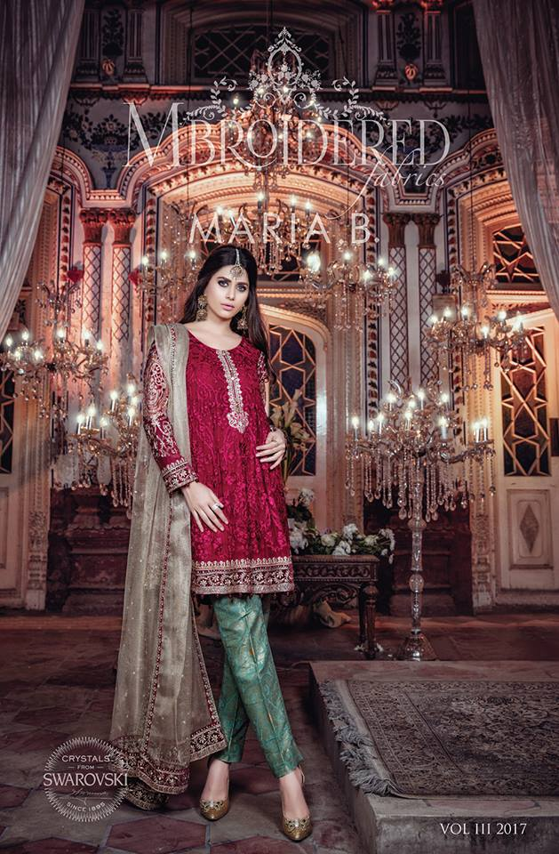 Maria B Luxury Formal Dresses Embroidered Collection 2017