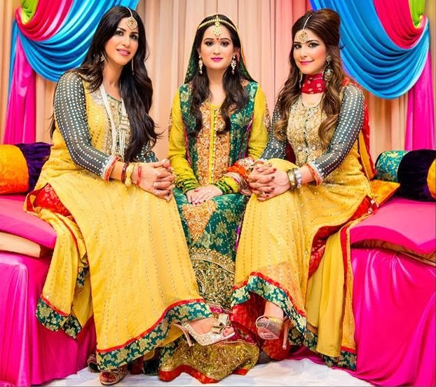 Trends of Mehndi Ghagra Choli Dresses & Frocks Collection 2016-2017 (11)