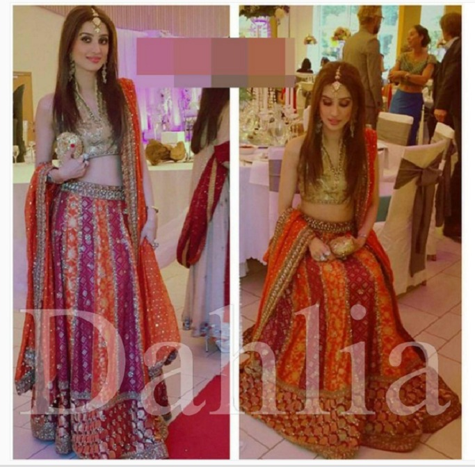Trends of Mehndi Ghagra Choli Dresses & Frocks Collection 2016-2017 (2)