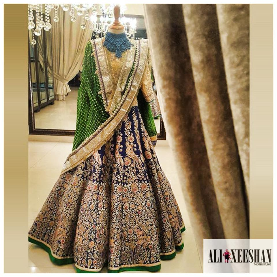Ali Xeeshan Latest Bridal Wedding Dresses Collection 2016-2017 (12)