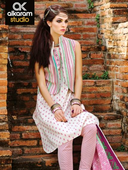 Rang ja formal eid dresses lawn collection 2016 - Alkaram Summer Colorful Lawn Dresses Collection 2016 2017