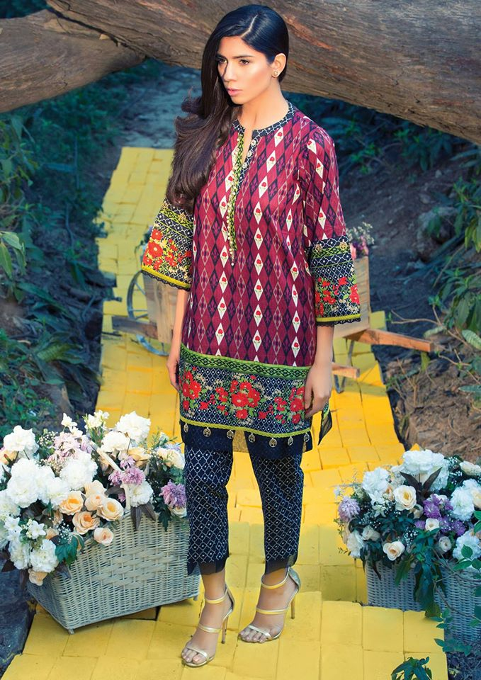 Alkaram printed latest lawn designs 2017-2018 Collection (2)