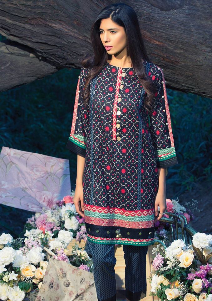 Alkaram printed latest lawn designs 2017-2018 Collection (3)