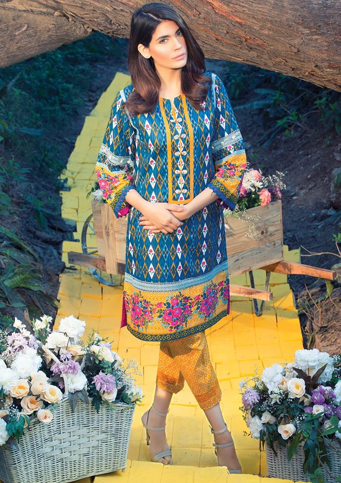 Alkaram printed latest lawn designs 2017-2018 Collection (6)
