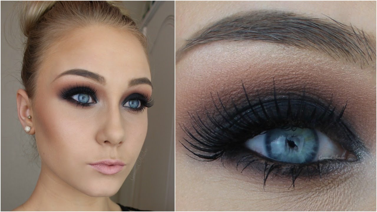 Black Smokey Eyes Makeup Tutorial Step by Step (16)