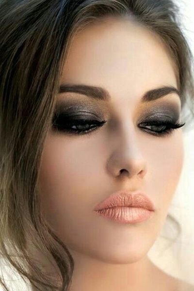 Black Smokey Eyes Makeup Tutorial Step by Step (17)