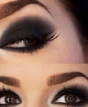 Black Smokey Eyes Makeup Tutorial Step by Step