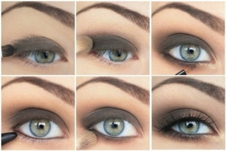 Black Smokey Eyes Makeup Tutorial Step by Step (6)