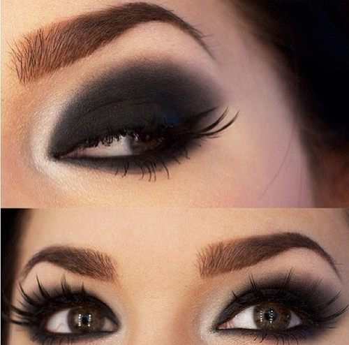 Black Smokey Eyes Makeup Tutorial Step by Step (7)