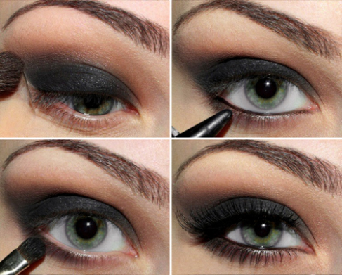 Black Smokey Eyes Makeup Tutorial Step by Step (8)