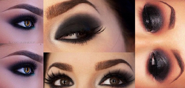 Bold u0026 Beautiful Black Smokey Eyes Makeup Tutorial Step by ...