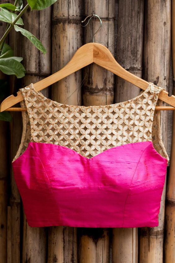 Cutwork Blouses- Top 5 Most Popular Embroidered Sarees Blouses Trends for Women (1)