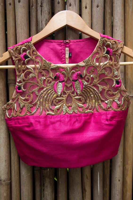 Cutwork Blouses- Top 5 Most Popular Embroidered Sarees Blouses Trends for Women (4)