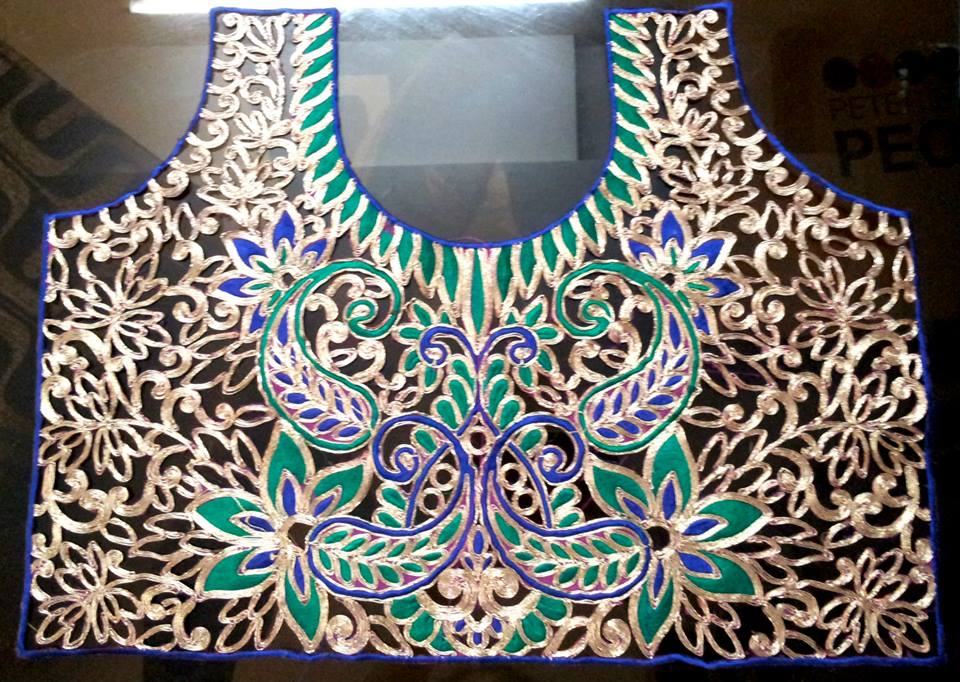 Cutwork Blouses- Top 5 Most Popular Embroidered Sarees Blouses Trends for Women (5)