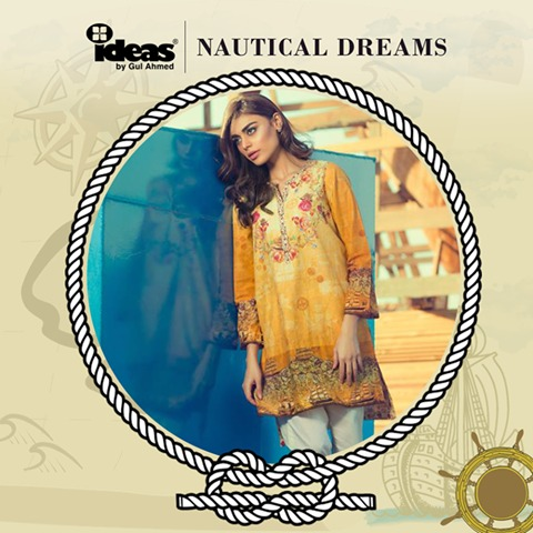 Gul Ahmed Latest Women Summer Pret Dresses Collection 2016-2017 (1)