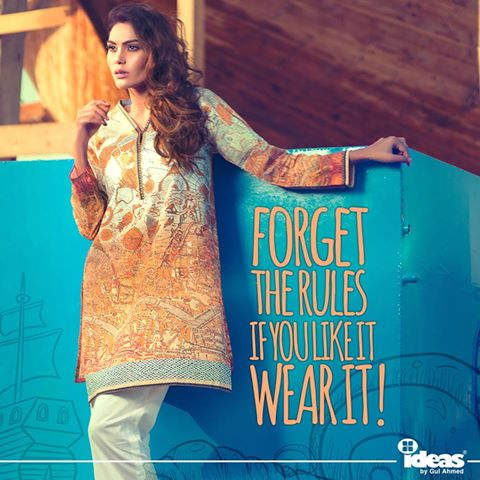 Gul Ahmed Latest Women Summer Pret Dresses Collection 2016-2017 (3)