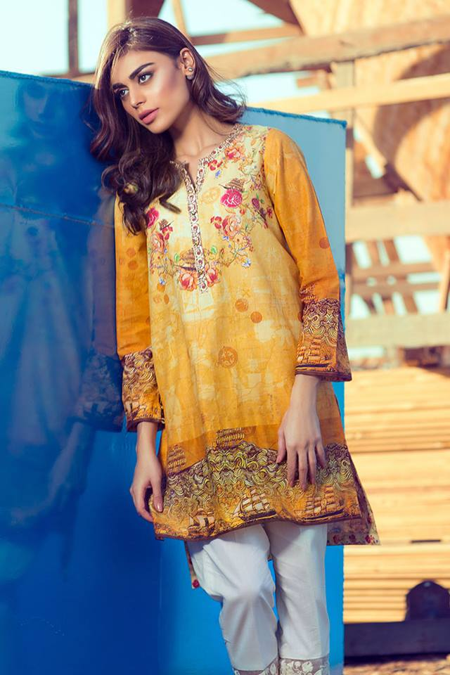 Gul Ahmed Latest Women Summer Pret Dresses Collection 2016-2017 (5)